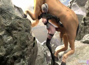 Порно трахает лошодь